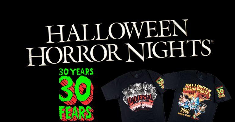 "Universal Orlando releases ""30 Years, 30 Fears"" Halloween Horror Nights merchandise"