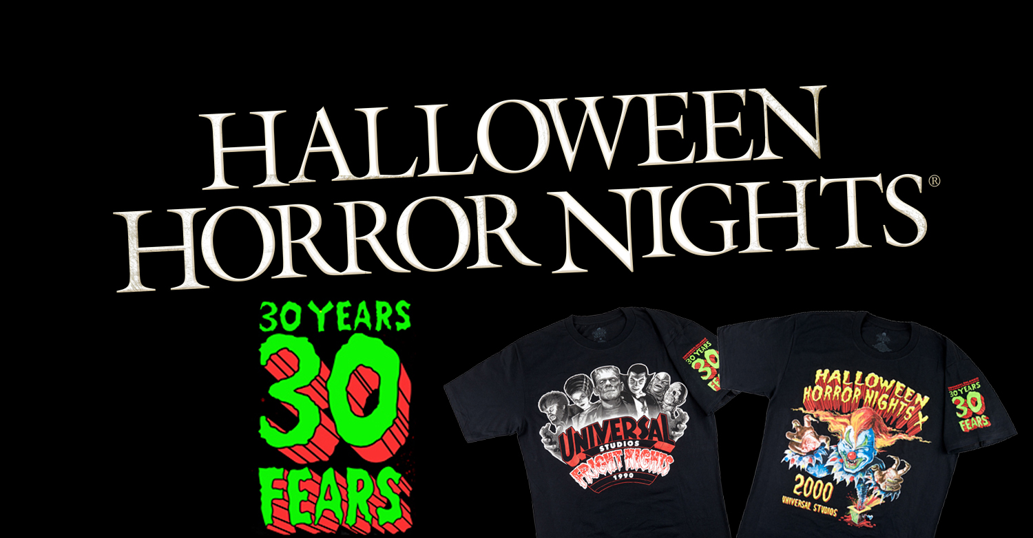 "Halloween Horror Nights 2020 Merchandise Universal Orlando releases ""30 Years, 30 Fears"" Halloween Horror"