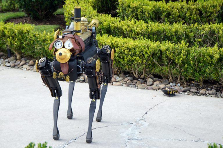 Dog robot, Latte, debuts at Toothsome Chocolate Emporium at Universal CityWalk Orlando