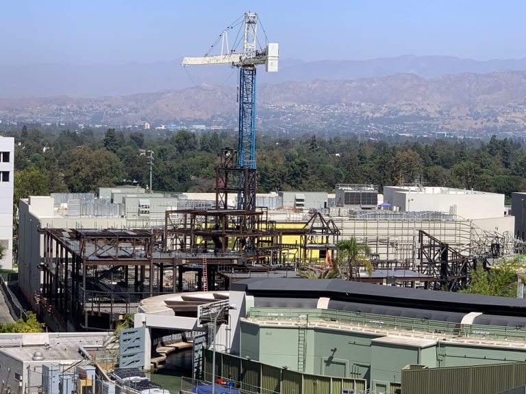 Thematic Installation underway at Super Nintendo World at Universal Studios Hollywood