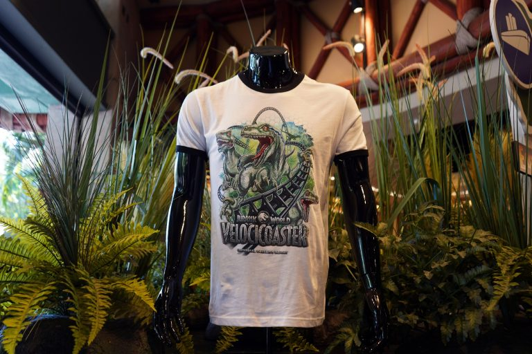 Jurassic World VelociCoaster merchandise released at Universal Orlando